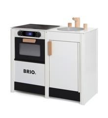 BRIO - Hvidt legekøkken med komfur og vask  (31360)