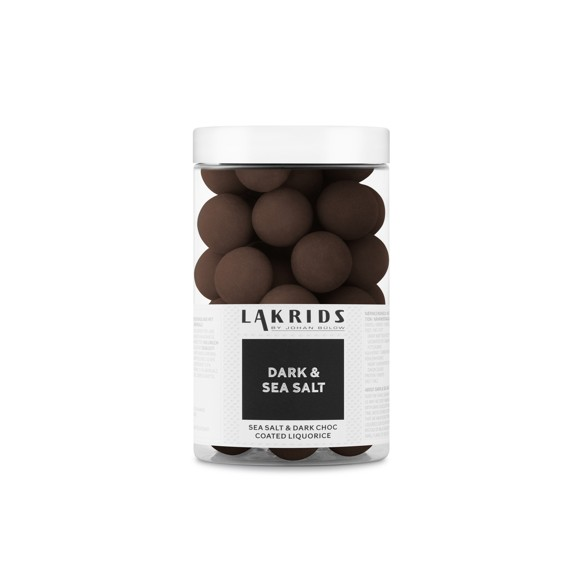 Lakrids By Johan Bülow - Dark Regular - Dark & Sea Salt Liquorice 250 g (500006)