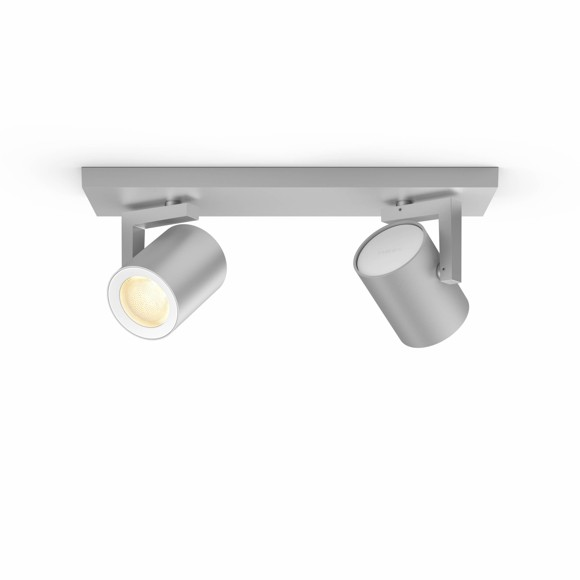 Philips Hue - Argenta plate/spiral - 2xGU10 White and Color Ambiance  (Aluminium)