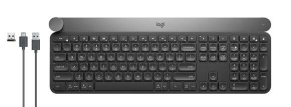 Logitech - Craft Advanced keyboard with creative input dial