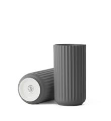 Lyngby Porcelæn - Vase 25 cm - Dark Grey (200868)