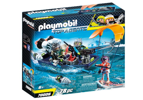 Playmobil - TEAM S.H.A.R.K. Harpoon Craft (70006)