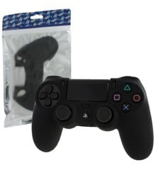 ZedLabz soft silicone rubber skin grip cover for Sony PS4 controller with ribbed handle - black
