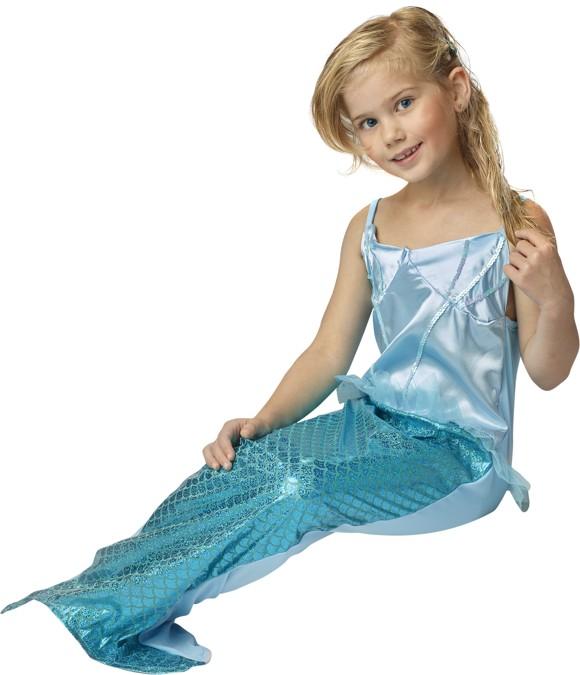 Mermaid Dress 7-8 years - Blue