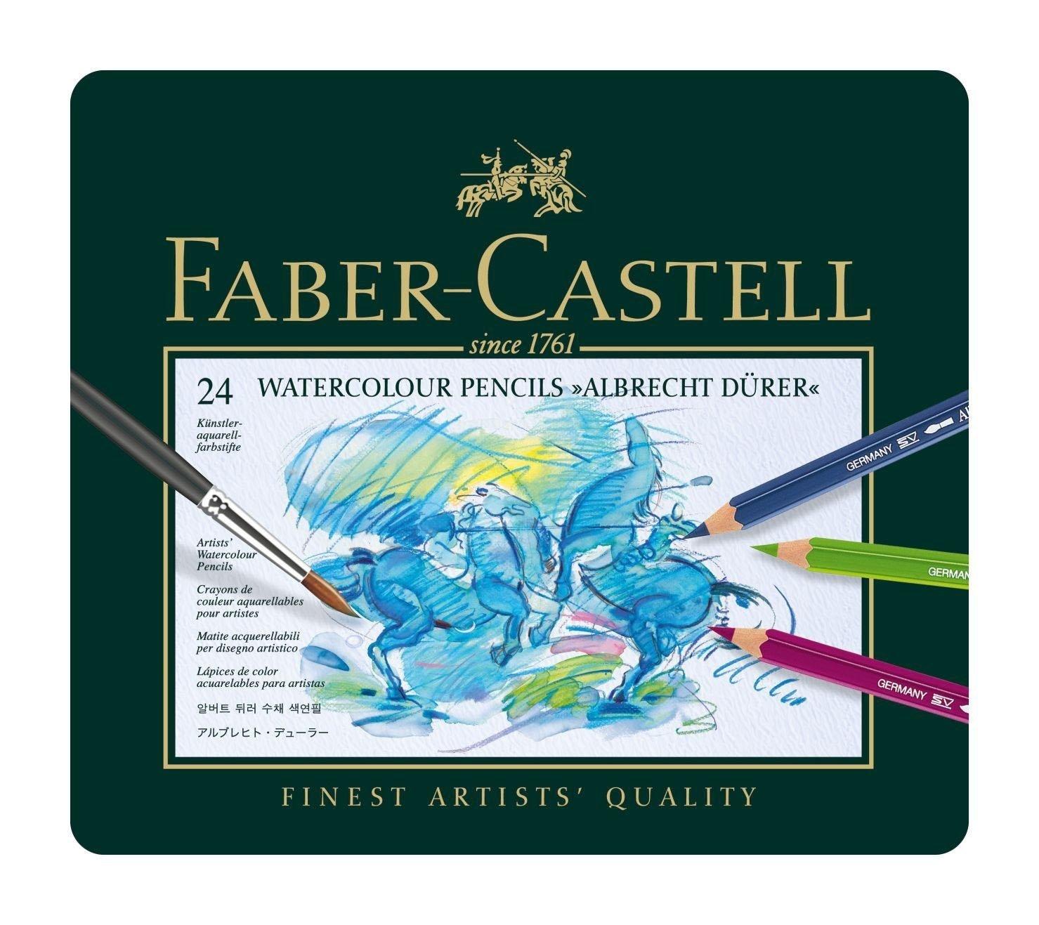Faber-Castell - Watercolour pencil Albrecht Dürer tin of 24 (117524)