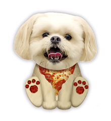Squishies - Large - Pizza Hund