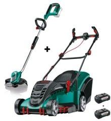 Bosch -  Rotak 43 LI  Lawnmower + AdvancedGrassCut 36 Grass Trimmer Bundle