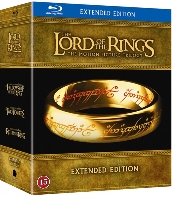 Ringenes Herre 1-3 Extended udgave (Blu-Ray)