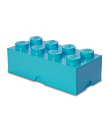 Room Copenhagen - LEGO Opbevaringskasse Brick 8 - Medium Azur