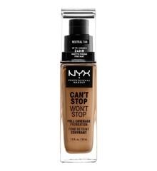 NYX Professional Makeup - Can't Stop Won't Stop Foundation - Natural Tan