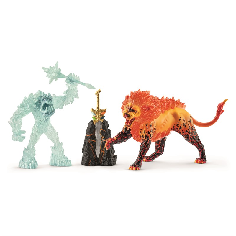 Schleich - Battle for the Superweapon – Frost Monster vs. Fire Lion (42455)