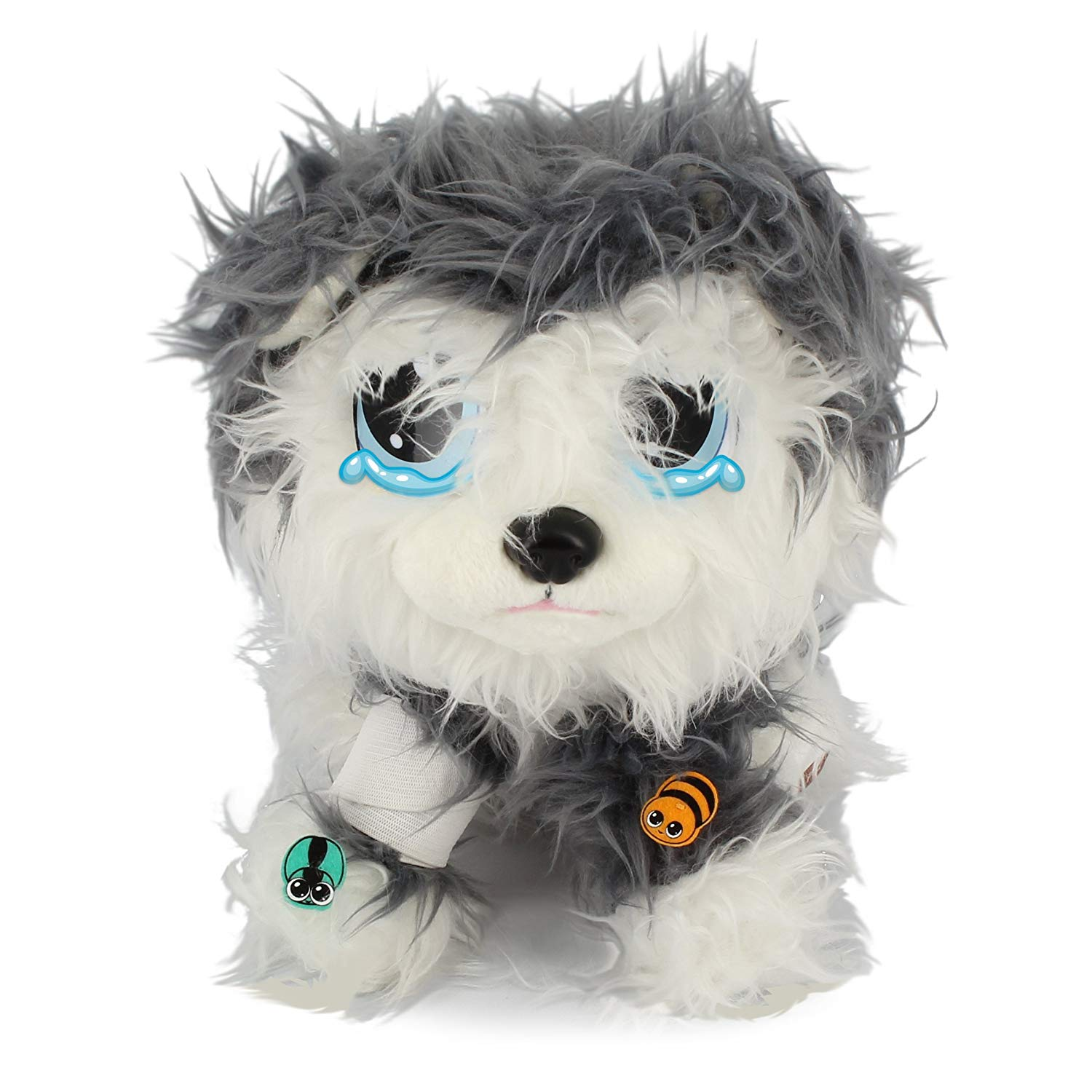 White//Gray Rescue Runts Husky Plush Dog