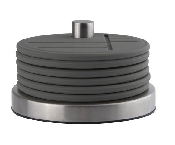 Zone - Coaster With Holder - Grey (330512)