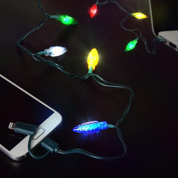 Jule LED Ladekabel med Lys
