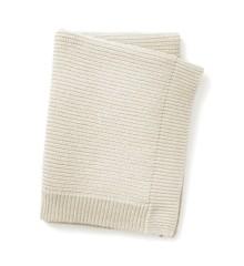 Elodie Details - Uldstrikket Tæppe - Vanilla White