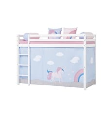 Hoppekids - Play Curtain Mid-High Bed 90x200 cm - Unicorn