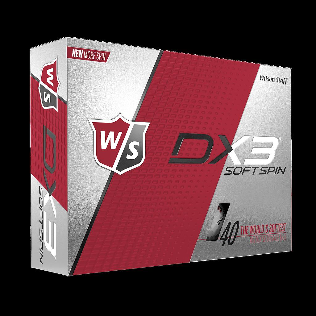 WILSON STAFF - DX3 SOFT SPIN GOLF BALLS - 12 PACK