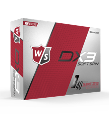 WILSON STAFF - DX3 SOFT SPIN GOLF BALLS - 12 PACK