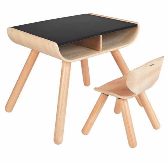 PlanToys - Bord og stol, sort (8703)