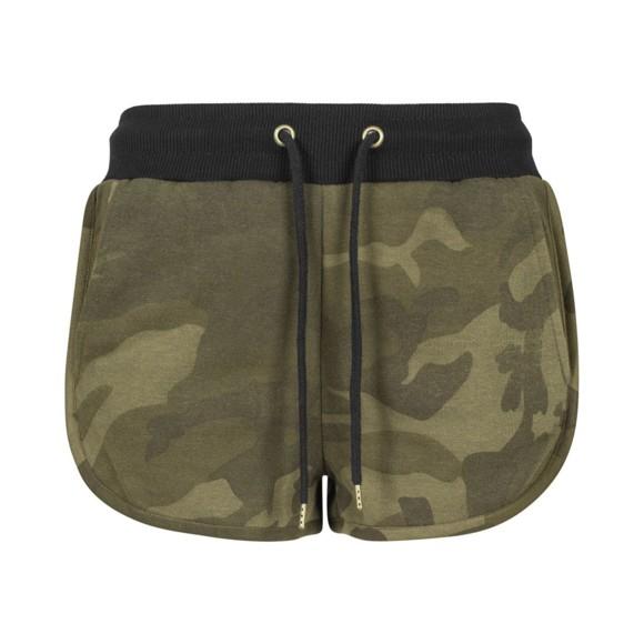 Urban Classics Ladies - Hotpants olive camo - S