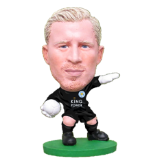Soccerstarz - Leicester Kasper Schmeichel - Home Kit  (Classic)
