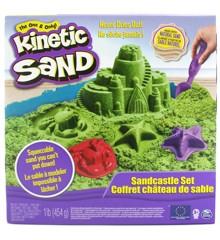 Kinetic Sand - Grøn Sandslot Sæt (450g)