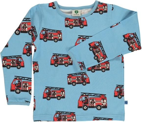 Småfolk - T-shirt w. Firetruck Print