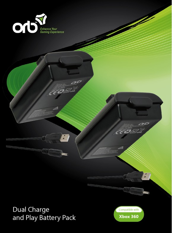 Xbox 360 - Dual Charge + Battery (Black) (ORB)