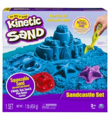 Kinetic Sand - Blå Sandslot Sæt (450g)