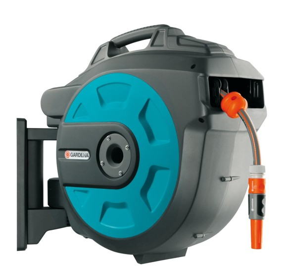 zzGardena - Wall-Mounted Hose Box 25 Roll-Up Automatic