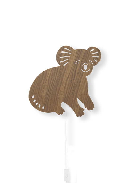 Ferm Living - Koala Lamp - Smoked Oak (100049316)