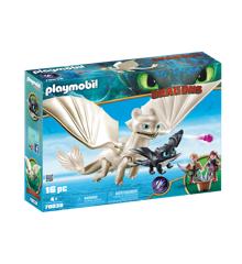 Playmobil - Lysskygge og Baby-drage med børn (70038)