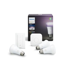 Philips Hue - Kan dimmes E27 9W Richer colors 3-pack 2018