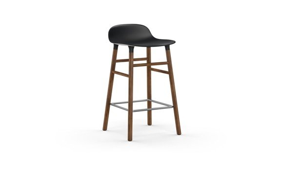 Normann Copenhagen - Form Barstool 65 cm - Black/Walnut (602788)