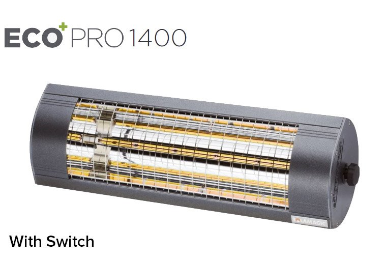 ​Solamagic - 1400 ECO+ PRO Patio Heater W/Switch - Antracite