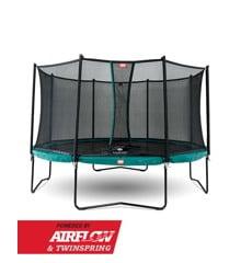 BERG - Champion 330 Airflow Trampoline + Comfort Safety Net - Green (35.41.04.01)