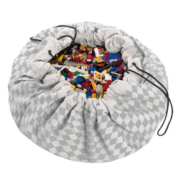 Play & Go - Legetæppe og Opbevarings taske - Diamond Grey