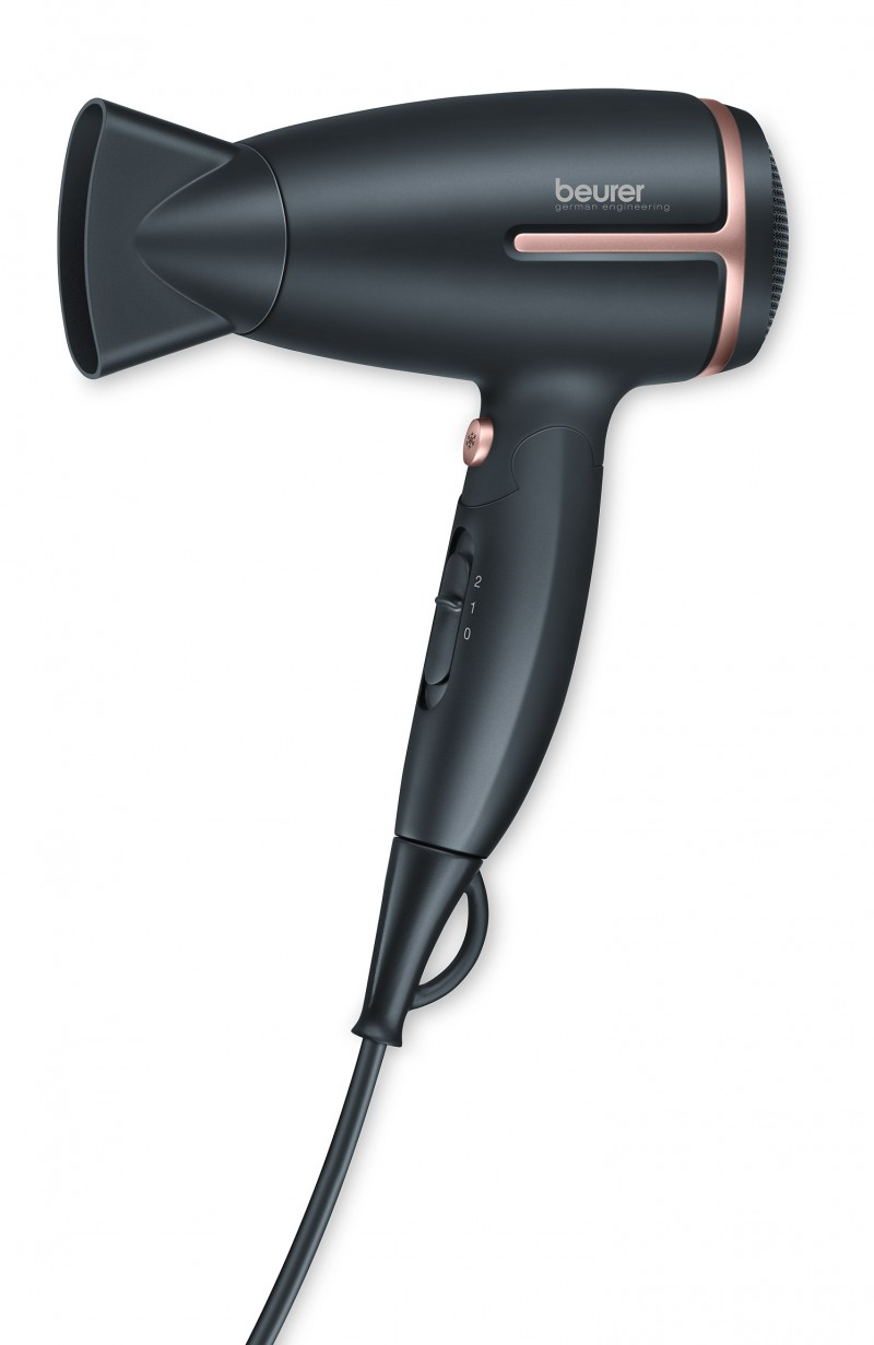 Beurer - HC 25 Travel Hair Dryer 1600 W Black - 3 Years Warranty