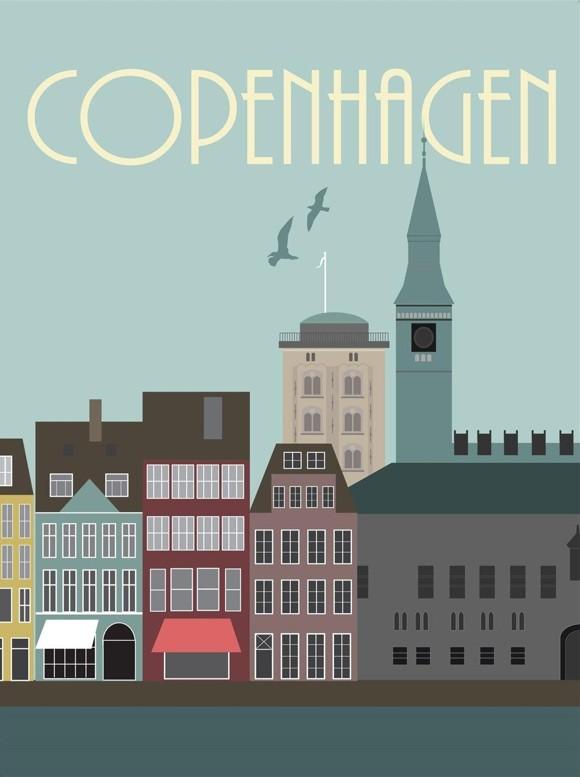 Hoei Denmark - Wonderful Capital 50 x 70 cm - Copenhagen