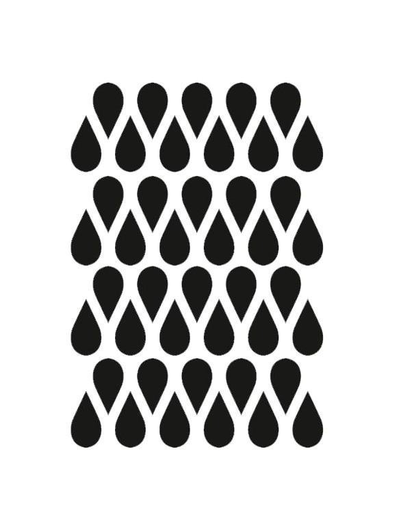 Ferm Living - Mini Drops Wallstickers - Black ( 2084-01)