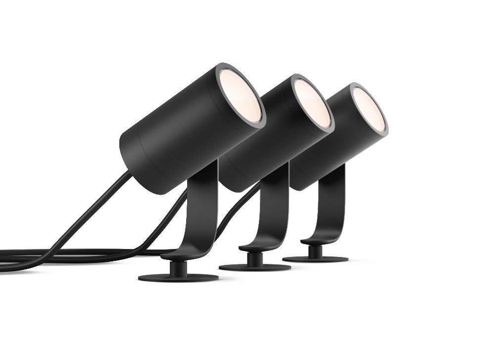 Philips Hue -  Lily Außenstrahler Basis-Paket - Weiß & Farbe Ambiance