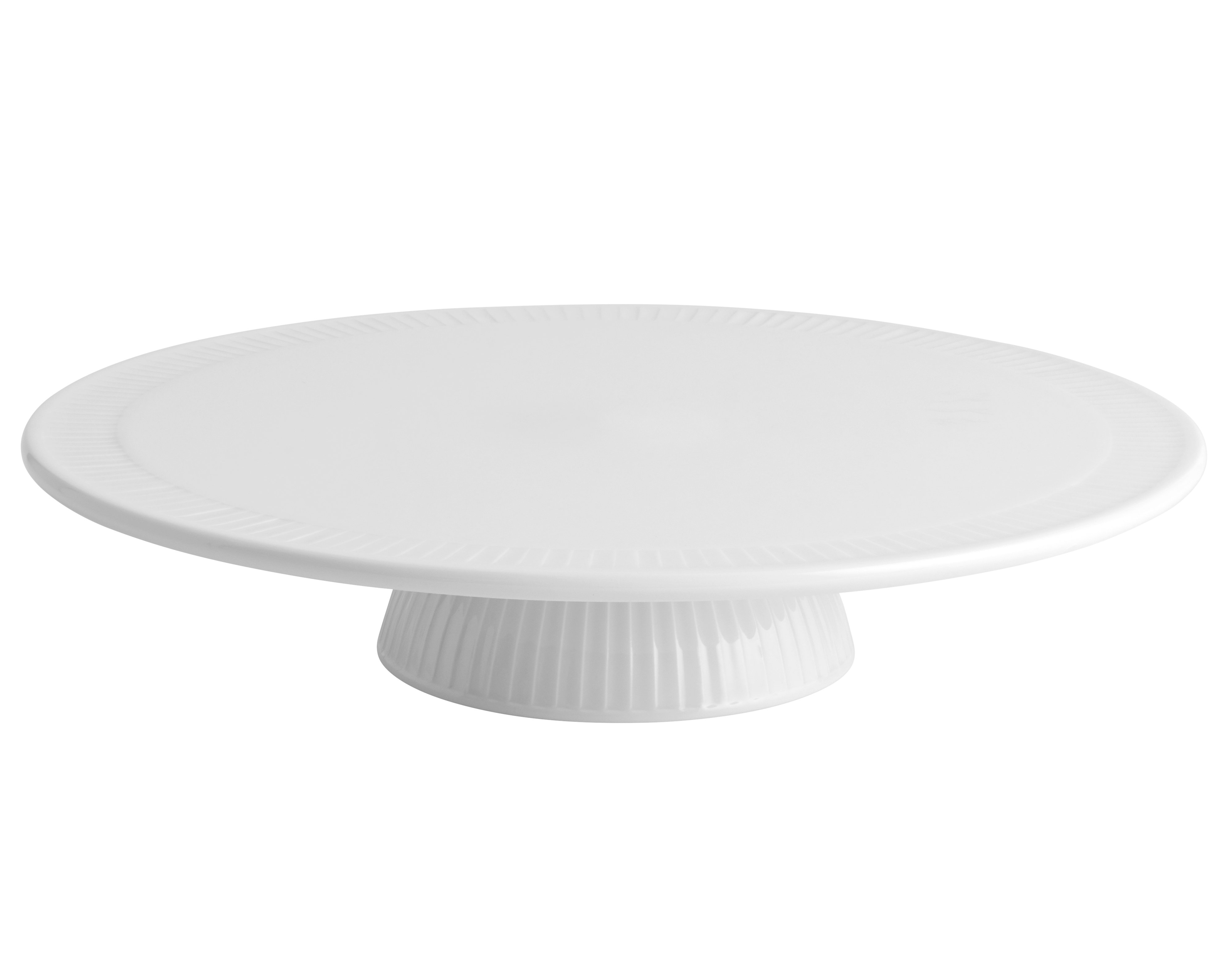 Pillivuyt - Plissé Cake Plate On Foot 30 cm - White (634230)
