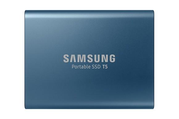 Samsung 250GB T5 USB 3.1 Type C Portable External SSD - Blue