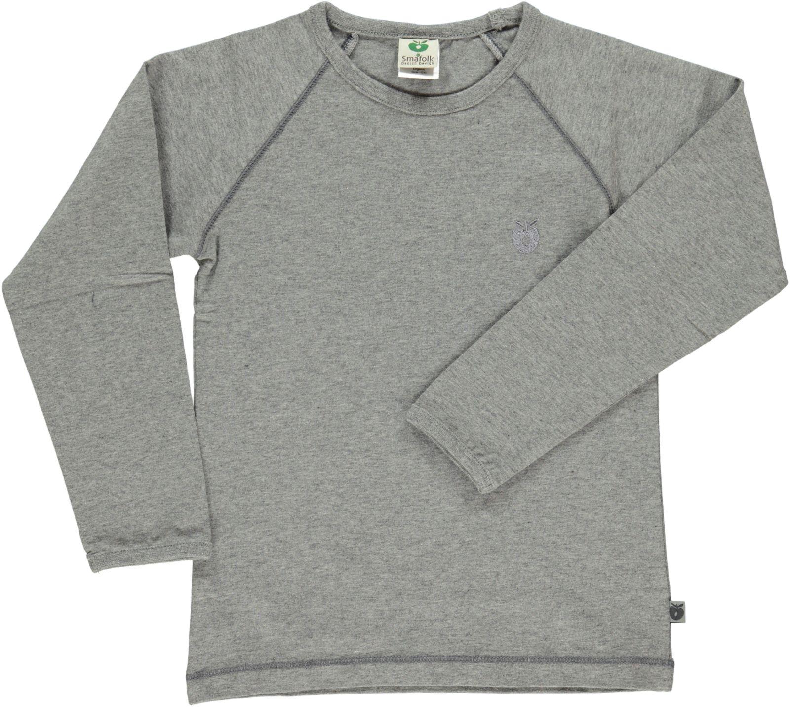 Småfolk - Organic Basic Longsleved T-Shirt - M. Grey Mix