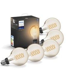 Philips Hue - 5xE27 Filament G93 - Spar 140,- - Bundle