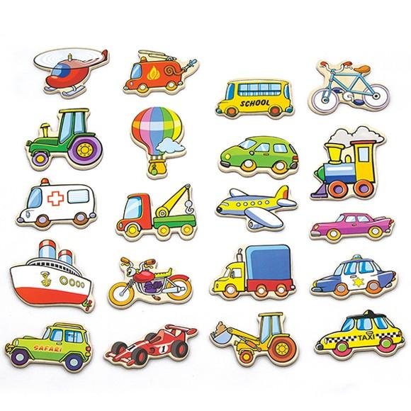 Viga - Magneter i Træ - Køretøjer