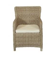 Vila - Gotland Garden Chair With Cushion - Nature/Off White (629106)