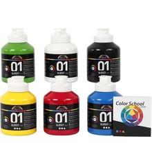 A-Color - Acrylic Paint - Glossy - 6 x 500 ml (32032)