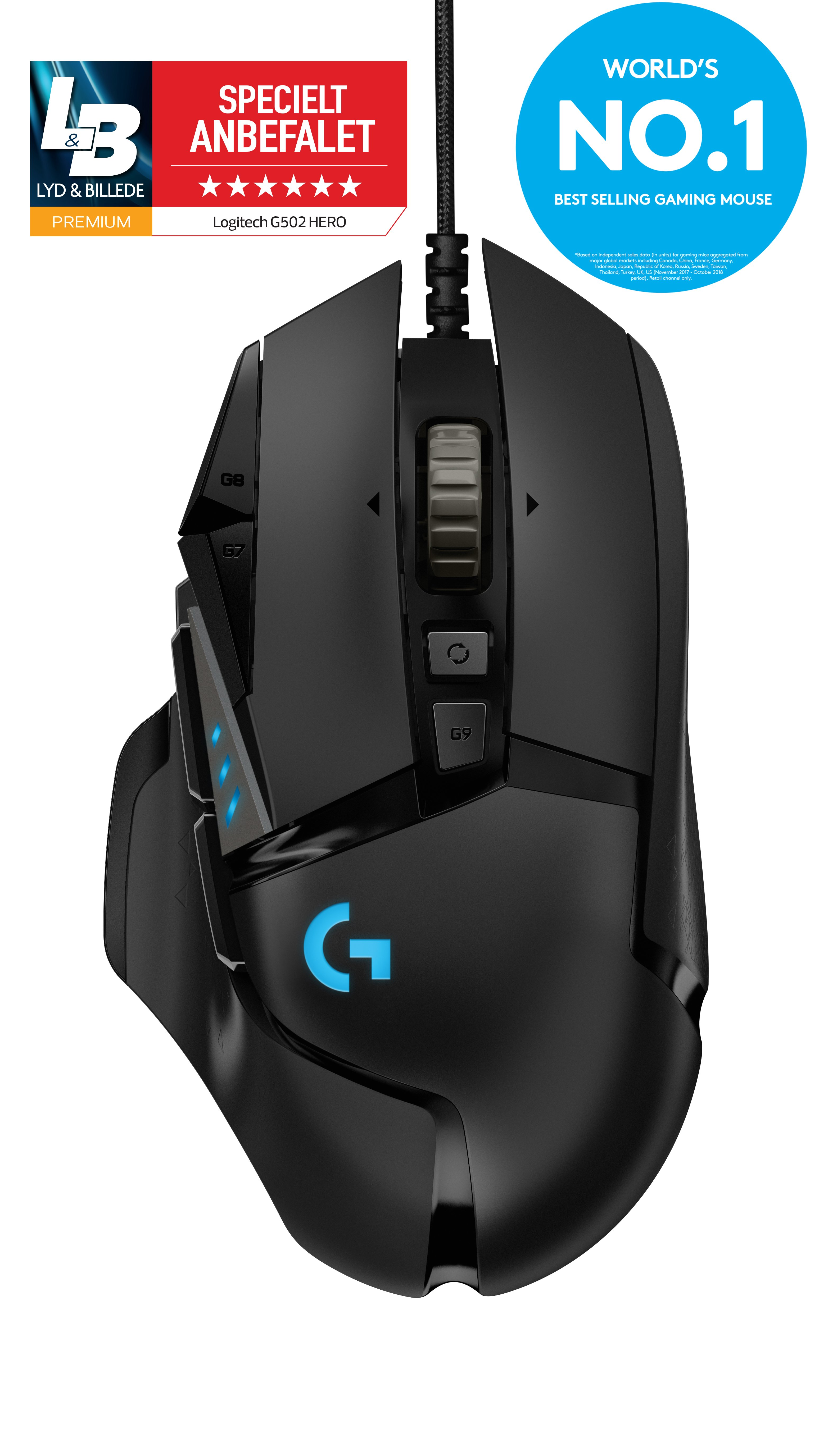 ?Logitech - G502 Wireless Lightspeed Black Gamer Mouse