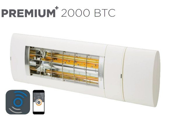 Solamagic - 2000 Premium BTC Patio Heater - White - 5 Years Warranty